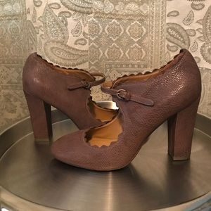 Aerin Brown Leather pumps
